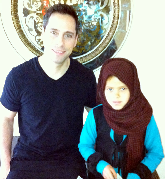 John Romano of Fort Lauderdale with Child in Need in Egypt